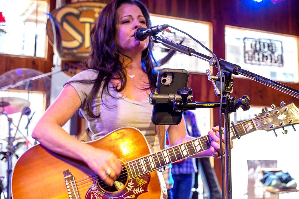 Singer Playing Guitar