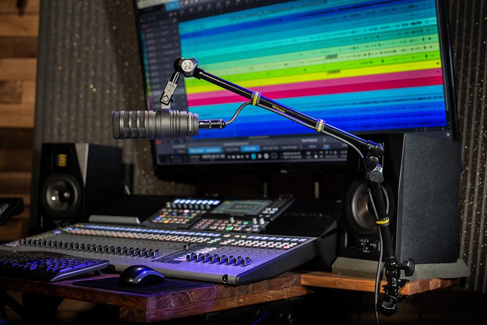 Recording Studio Soundboard and Mic