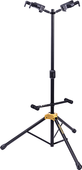 AUTO GRIP SYSTEM (AGS) DOUBLE GUITAR STAND, FOLDABLE BACKREST