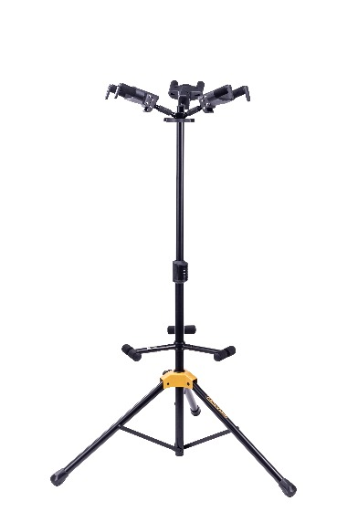 AUTO GRIP SYSTEM (AGS) TRIPLE GUITAR STAND, FOLDABLE BACKREST