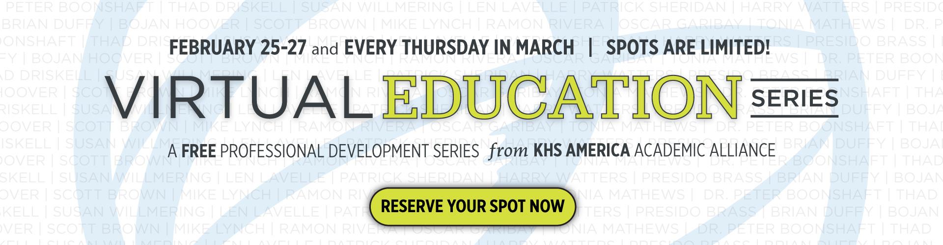 2021 Virtual Education Series