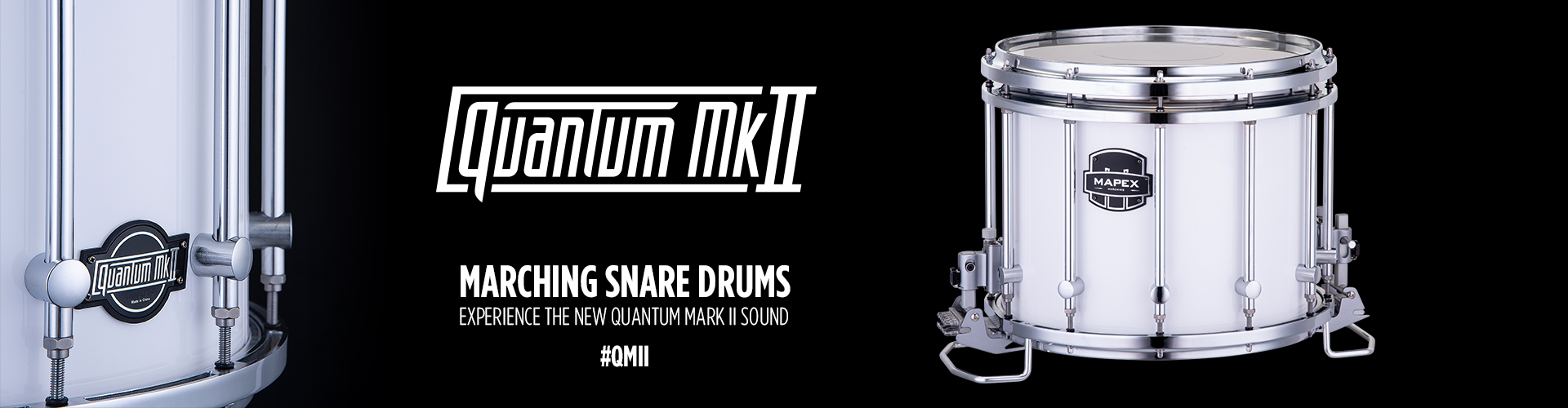 Marching QMII snare drums
